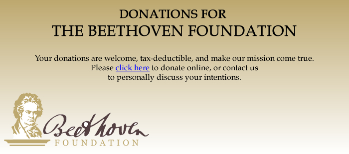 Donations for The Beethoven Foundation